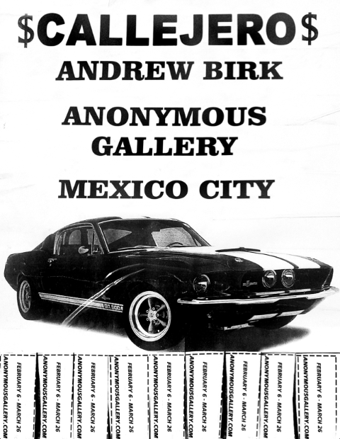 """Exposición """"Callejero"""" de Andrew Birk en la Anonymous Gallery"""