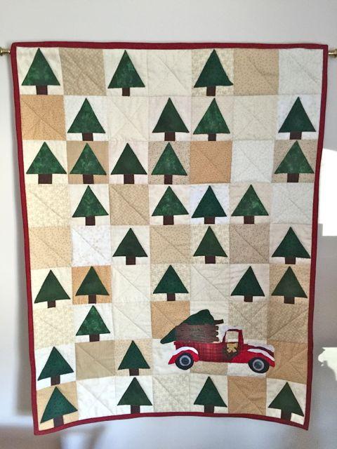 A Positive Outlook Vintage Tree Farm Quilt