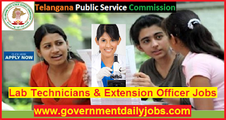 TSPSC Recruitment 2018 Apply for 279 Lab Technician & Extension Officer Jobs