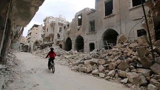 Runtuhan Bangunan Suriah
