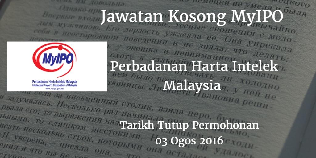 Jawatan Kosong MyIPO 03 Ogos 2016