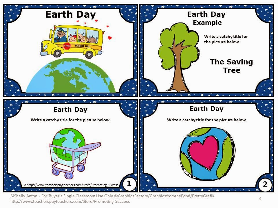 Earth Day writing prompt story starters games activities