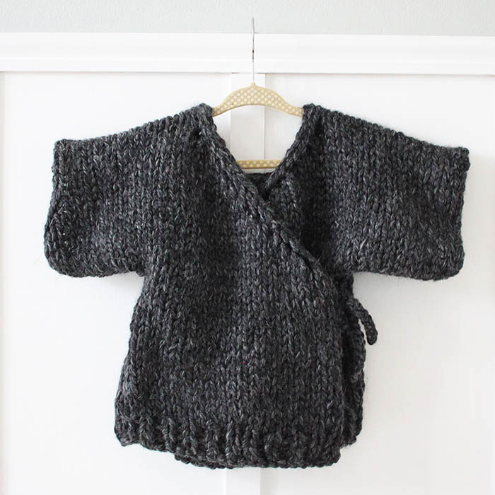 Toddler Kimono Sweater Knitting Pattern - Gina Michele