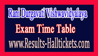 Rani Durgavati Vishwavidyalaya BA LLB / LLM CBCS 1st Sem Dec 2016 Exam Time Table
