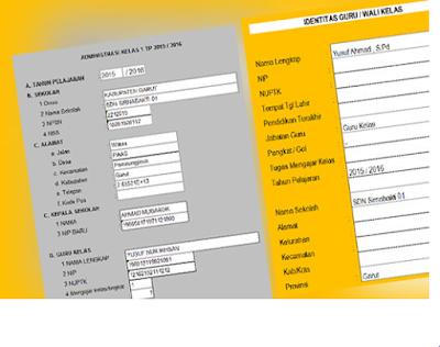 Download Aplikasi Administrasi Guru/Wali Kelas Format Excell