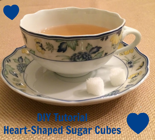 diy tutorial heart shaped sugar cubes tea party