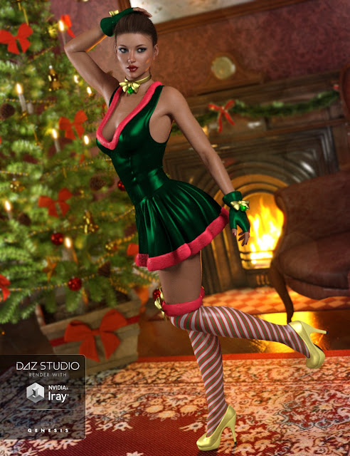 Santa Honey Outfit for Genesis 3 Female