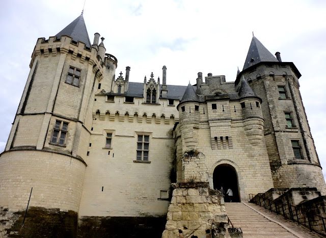 Exterior of Saumur Château, Loire Valley, France