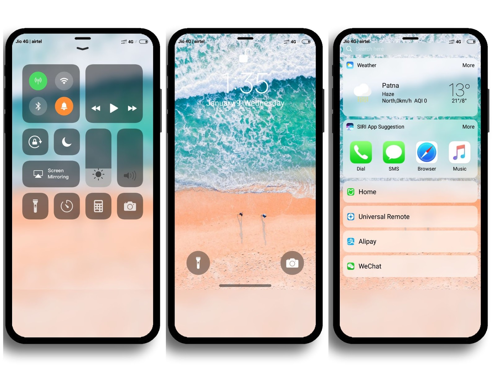 Download Tema iPhone iOS 1 Hitesh MTZ MIUI 1 Terbaru  Yuusroon