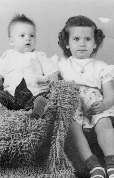 Portrait of me and my little brother in 1954