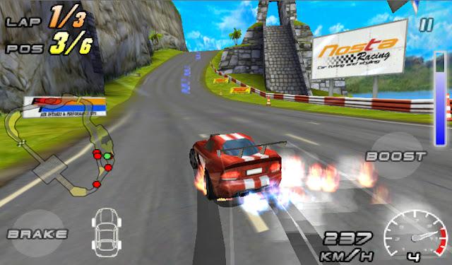 لعبة سباق السيارات للأندرويد Raging Thunder 2