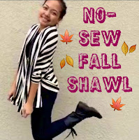 no sew fall shawl, no sew fall sweater, diy shawl, diy fall clothes, lauren banawa