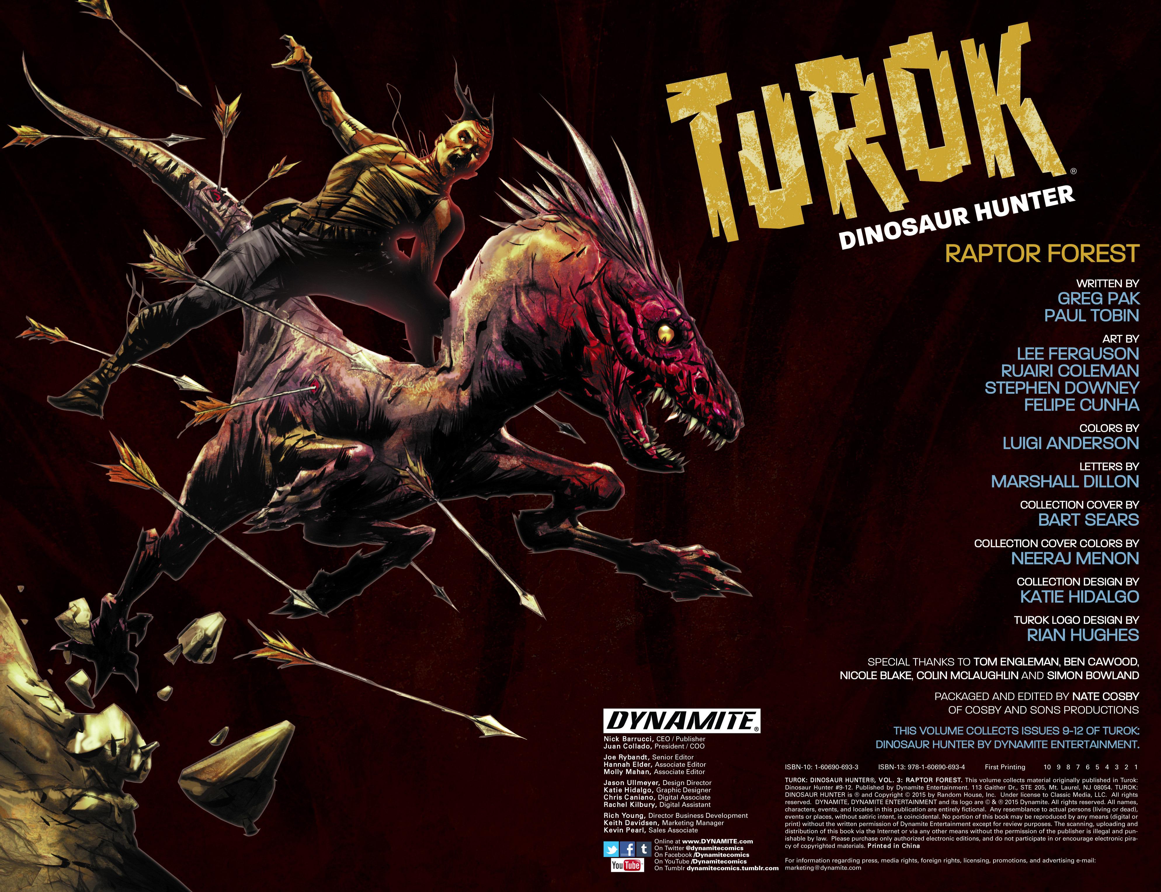 Read online Turok: Dinosaur Hunter (2014) comic -  Issue # _TPB 3 - 3