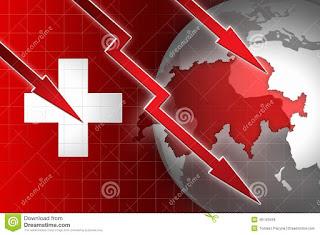 Economia da Suiça desce