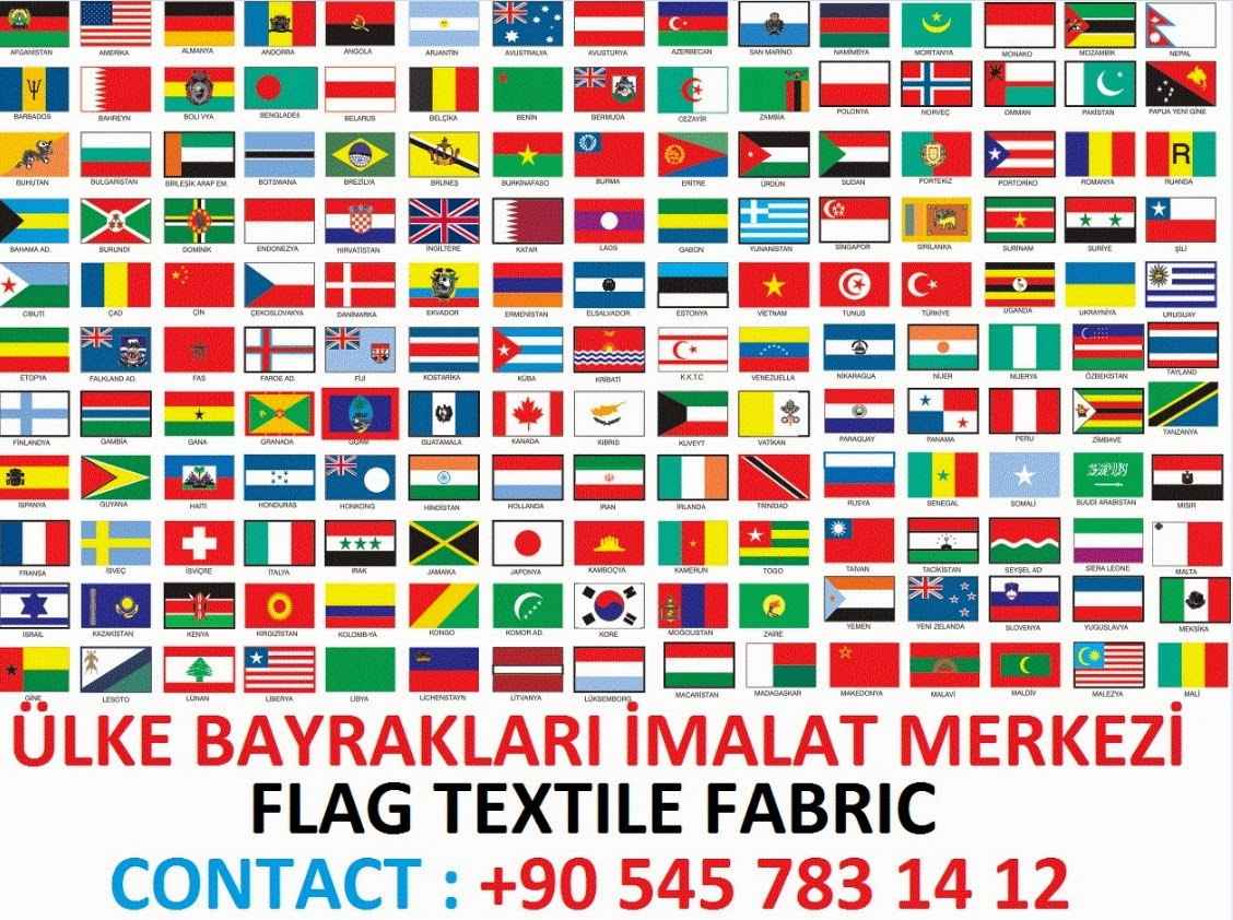 ülke bayrakları küçük ve büyük boy bayrak imalatı