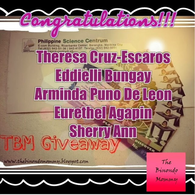 The Binondo Mommy: Winners for the PSC Giveaway