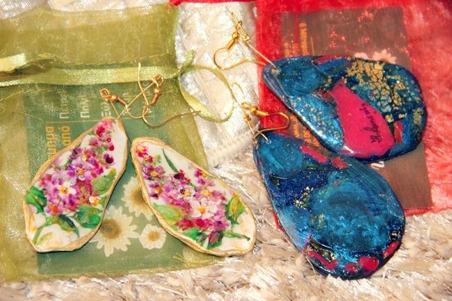 handmade Greek earrings
