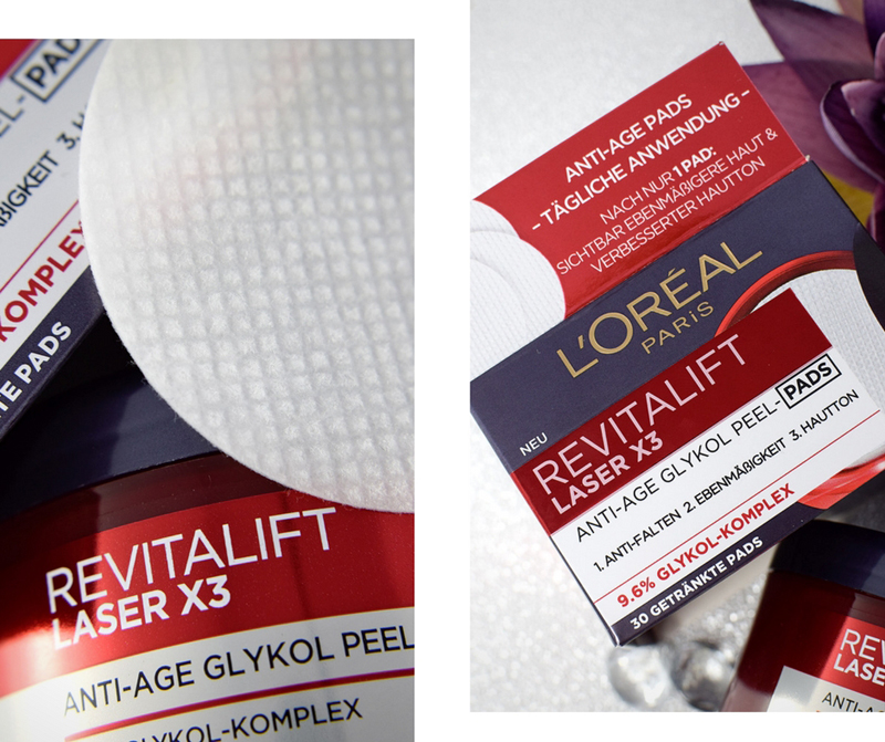 Review zu L'Oréal Paris Revitalift Laser X3 Peel-Pads mit Glykolsäure
