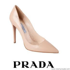 Crown Princess Mary wore PRADA nude pointed toe pumps