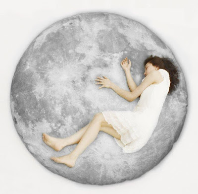 Full Moon Floor Pillow