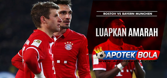 Prediksi Pertandingan Rostov vs Bayern Munchen 24 November 2016