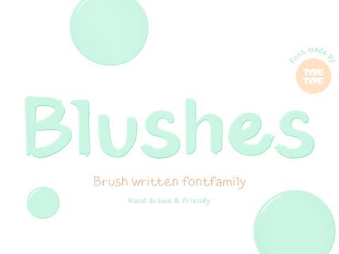 Download TT Blushes handwritten Font Free
