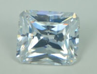 White Clear Color CZ Stone Octagon Princess Cut