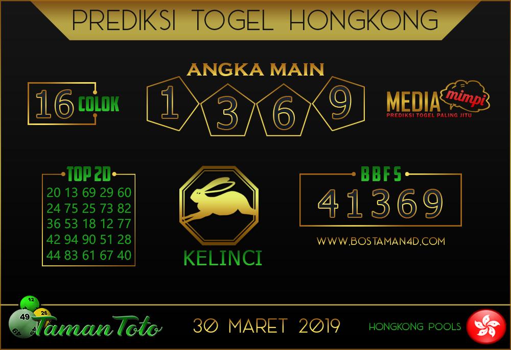 Prediksi Togel HONGKONG TAMAN TOTO 30 MARET 2019