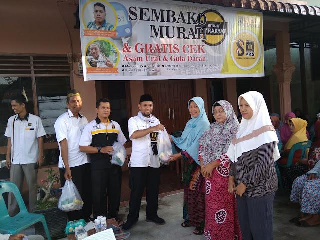 PKS Medan Johor Gelar Bakti Sosial, Ini Tanggapan Masyarakat
