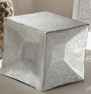 Taburete mesa cubo metalico