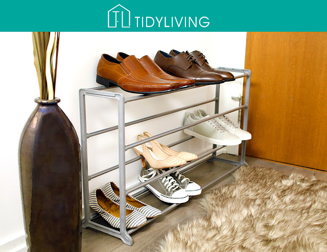 stackable shoe rack for easy #clutter control #organizers