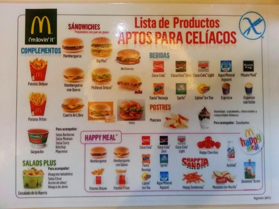 Pap sin gluten carta sin gluten de mcdonalds - Alimentos sin gluten para celiacos ...