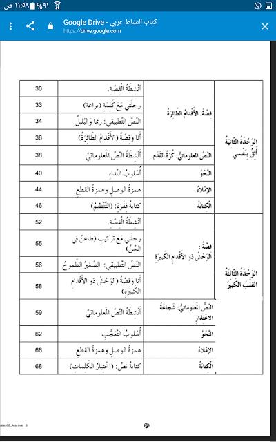 كتاب الانشطة في مادة اللغة العربية للصف الثالث الفصل الدراسي الاول 2018-2019
