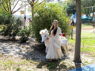 A Unicorn at the Florida Renaissance Festival