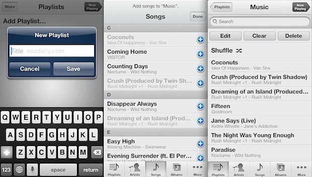Buat PlayList Langsung Di iPhone Tanpa iTunes