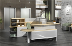 Global Total Office Zira Reception Desks at OfficeAnything.com