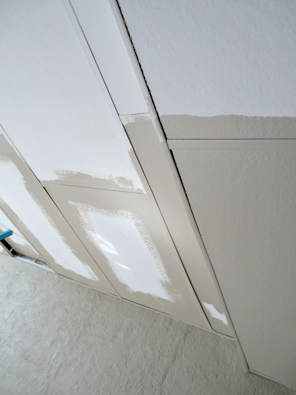 Basement update how to paint drop ceilings you cannot remove cannot remove ceiling tiles heres how to paint them painted drop ceiling dailygadgetfo Image collections