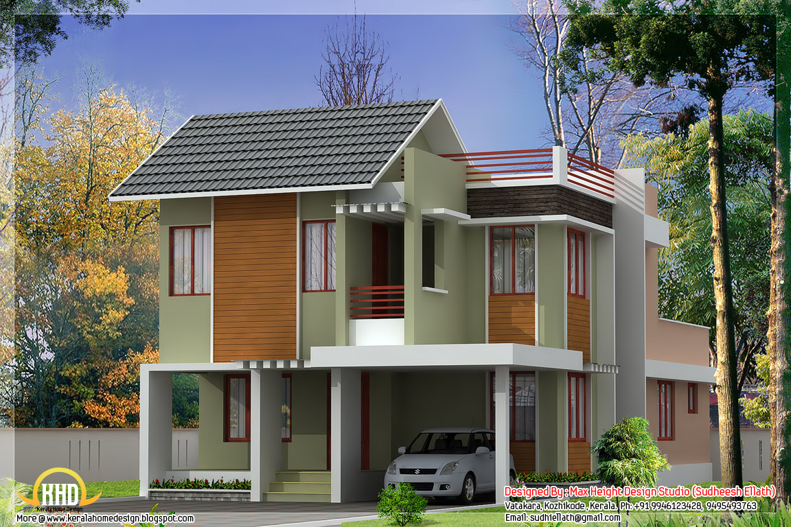 3 beautiful modern home elevations kerala home design for Www homedesign com