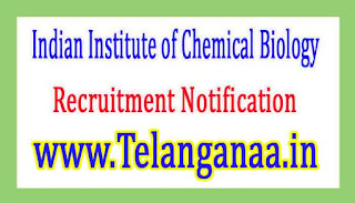 Indian Institute of Chemical BiologyIICB Recruitment Notification 2017