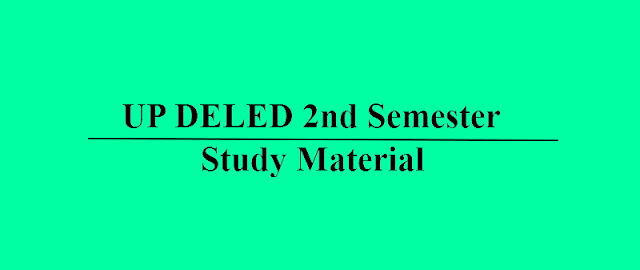 UP DELED Second 2nd Semester Study Material