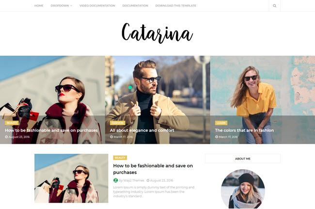 [Free Download] Catarina Blogger Template