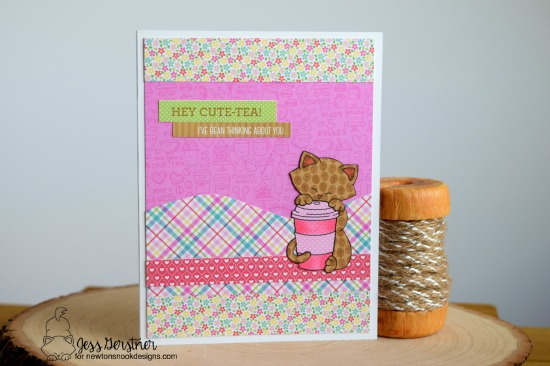 Newton Loves Coffee Card by Jess Gerstner featuring Newton's Nook Deisgns