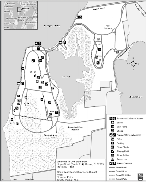 Map of Colt State Park