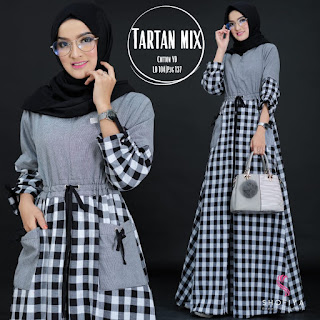 Tartan Mix Dress by Shofiya