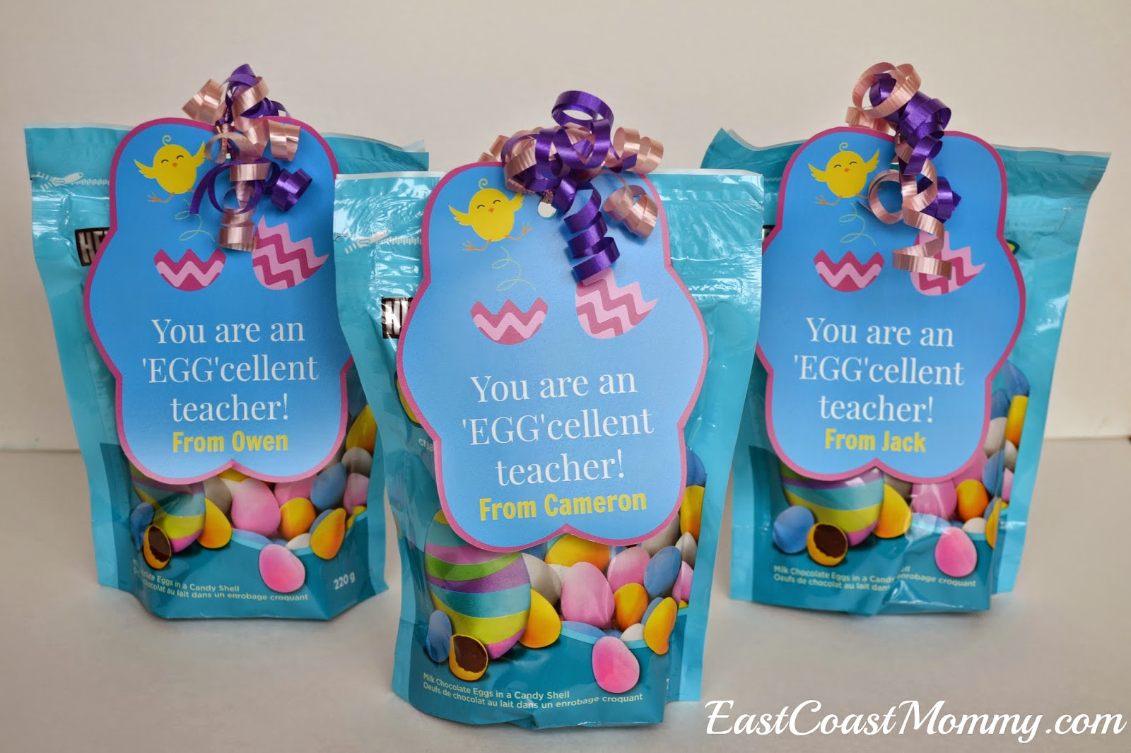 East coast mommy easter teacher gift with free printable tags negle
