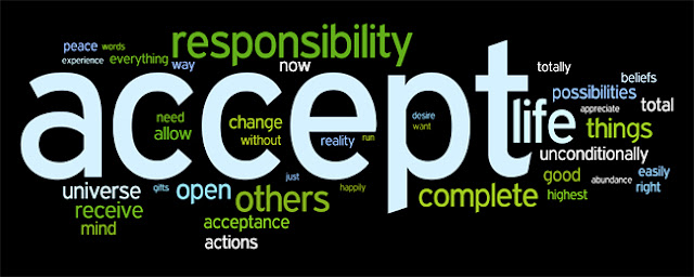ACCEPTANCE affirmation tag cloud created by Wordle