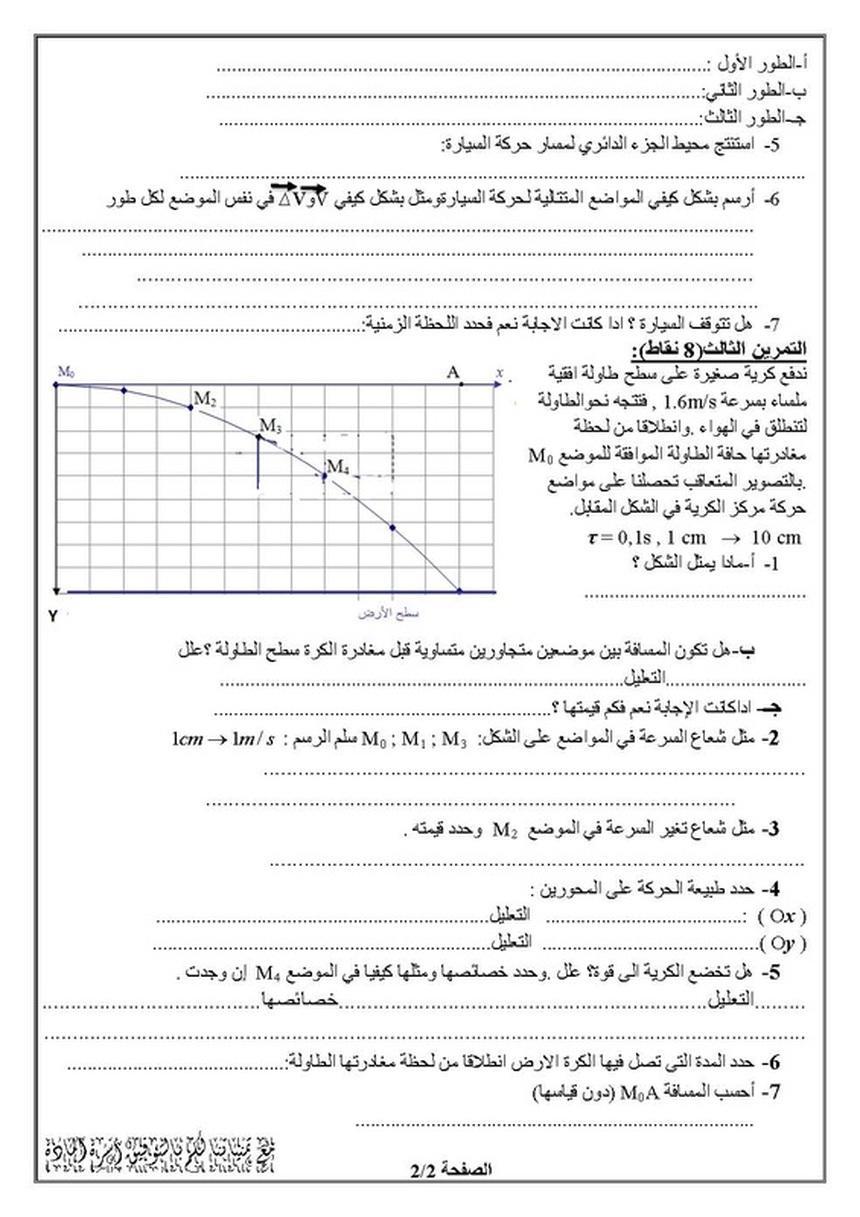 دروس الفيزياء للسنة الأولى ثانوي الفصل الاول