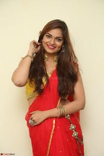 Actress Ashwini in Golden choli Red saree Spicy Pics ~  032.JPG