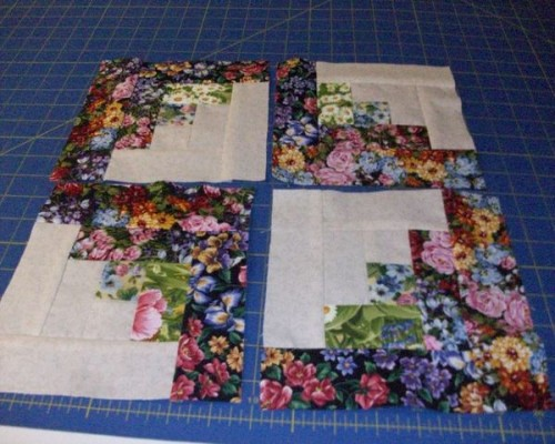 Strip Pieced Log Cabin Blocks - Quilt Tutorial