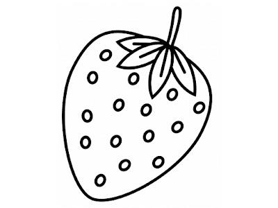 Gambar Mewarnai Buah Strawberry - 9